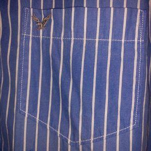 American Eagle Outfitters Shirts - American Eagle Long Sleeve Blue Stripe Shirt LT/GL